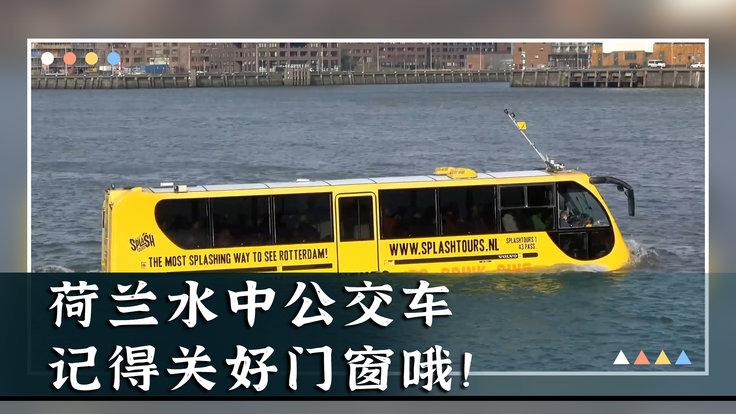 荷兰水中公交车,记得关好门窗哦!