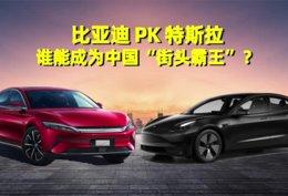 """比亚迪PK特斯拉:谁能成为中国""""街头霸王""""?"""